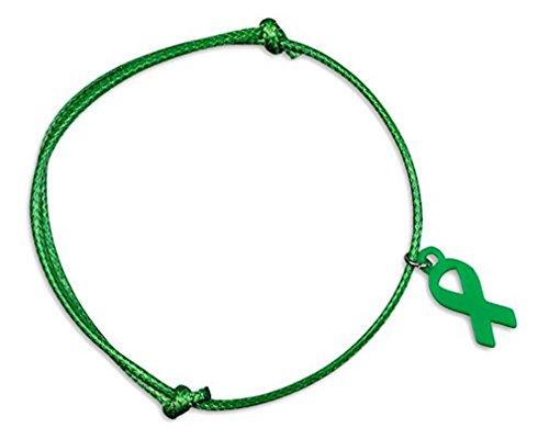 Cerebral Palsy/Bipolar Disorder/hígado cáncer conciencia cinta verde pulsera de cordón ajustable