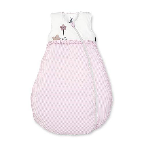 Sterntaler Schlafsack für Kleinkinder, Ganzjährig, Wärmeregulierung, Reißverschluss, Größe: 70, Emmi Girl, Weiß/Rosa