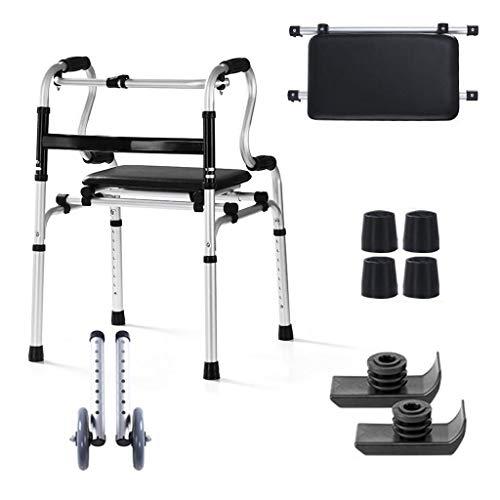 Outdoor Sports Walker, Elderly Walker, Lightweight Aluminum Frame Walker, Easy Folding Walker for Bathroom, Travel