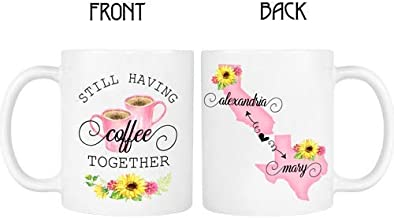 Long Distance State Mug, Friend, Sister, Mom, States, Countries and Provinces 11oz or 15oz