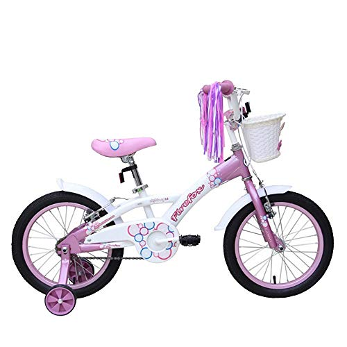 Firefox Bikes Destiny Kid Girl's Light Weight Frame 8.5 inches Anti-Skid Pedal Non Toxic Paint Power Brake 16 inches Wheel Seat Height Adjustment BMX Bike Bicycle (Pink/White)