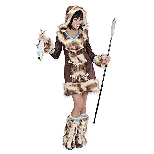WIDMANN wdm02431?Disfraz para adultos esquimal aikaa, marrón, S