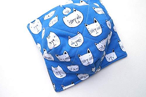 Blue Cat Fabric Microwave Bowl Cozy
