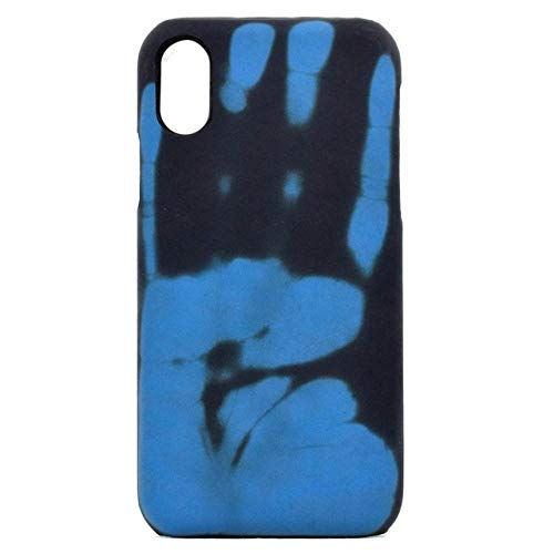 KESHOUJI Estuche para teléfono de inducción de Calor térmico para iPhone XS 11 Pro MAX 6 6S Plus 5 5S SE Sensor para iPhone X XR 6 7 8 Plus Funda Protectora, Azul, para iPhone 11 Pro
