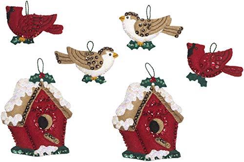 Bucilla 86981E Felt Ornament KIT Xmas, Christmas Birds