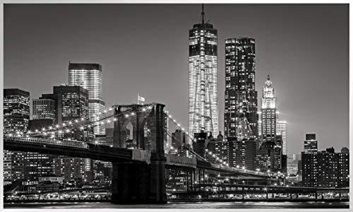 Könighaus Fern Infrarotheizung – Bildheizung in HD Qualität mit TÜV/GS - 200+ Bilder - 800 Watt (155. New York Skyline schwarz weiß)