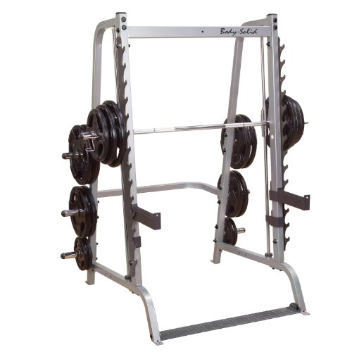 BODY-SOLID GS-348 Smith-Machine Multipresse, 7° angewinkelt mit Press-Rack