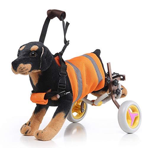 Carrito Ajustable Para Perros / Silla De Ruedas, Ruedas De Ejercicio Para Animales, Para Mascotas / Sillas De Ruedas Para Perros Con Patas Traseras Para Caminar, Peso Ligero, Fácil De Montar Adecuad
