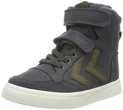 hummel Jungen Stadil Oiled Sneaker JR High-Top, Grau (Dark Shadow), 30 EU