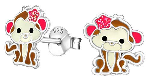 Best Wing Jewelry .925 Sterling Silver Monkey Tiny Stud Earrings