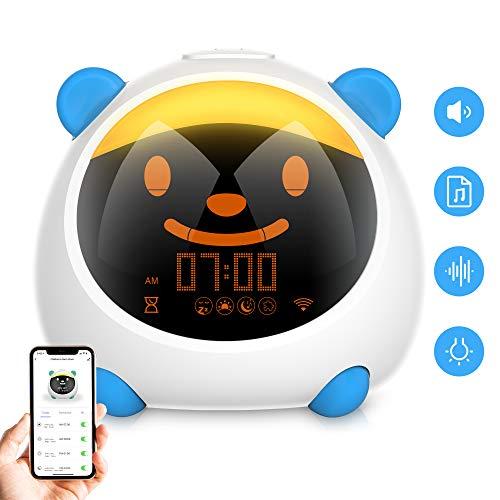 Sveglia Digitale da Comodino, Sveglia per Bambini Controllo Intelligente 4 Modalità...