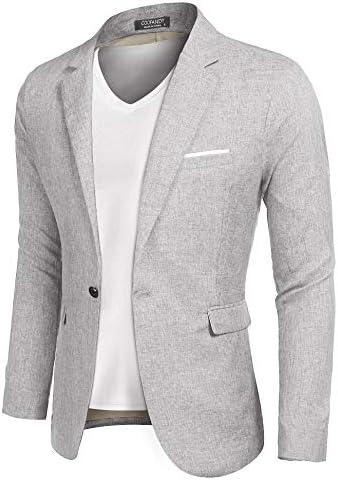COOFANDY Men Suit Jacket Linen Slim Fit Sport Coat Business Fashion Daily Blazer product image