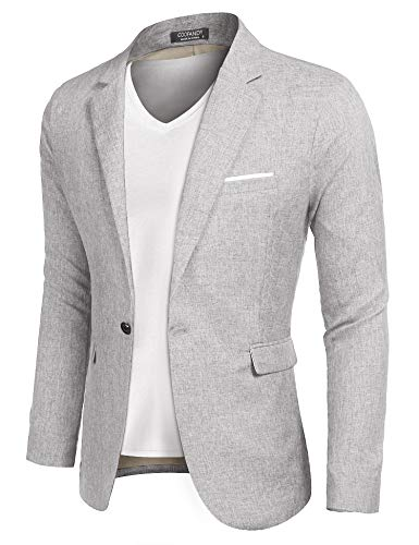 COOFANDY Men's Sportcoat Jacket Slim Fit Lapel Pockets Causal Party Blazer