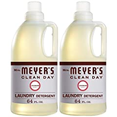 Concentrated detergent formula is effective yet gentle on clothes Contains plant derived cleaning ingredients with dirt and stain fighting enzymes 64 loads of laundry per bottle Biodegradable, HE laundry detergent for use in high efficiency and conve...