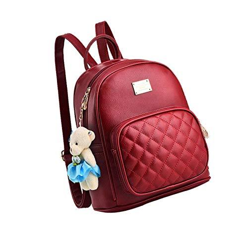 Mini Cute Pu Leather Backpack Casual Waterproof School Bag Travel