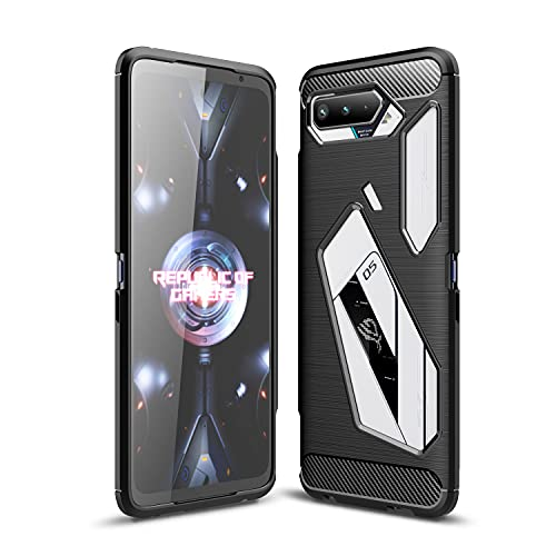 TingYR Hülle für Asus ROG Phone 5, Ultra Thin Silikon hülle Abdeckung Handy Hülle Stoßfest Hülle Schutzhülle, Handyhülle für Asus ROG Phone 5 Smartphone.(Schwarz)