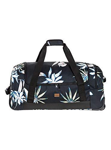 Roxy Damen Distance Across Wheeled Duffle Bag Seesack, True Black Delicate Flowers, Einheitsgröße