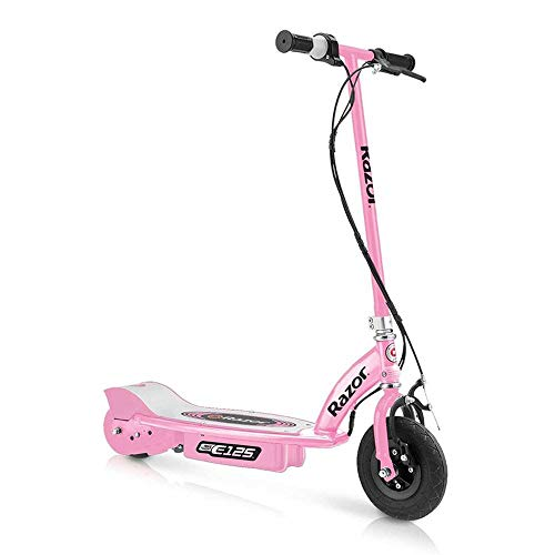 Razor E125 Kids Ride On 24V Motorized Battery Powered Electric Scooter Toy, Speeds up to 10 MPH with Brakes and Pneumatic Tires, Pink