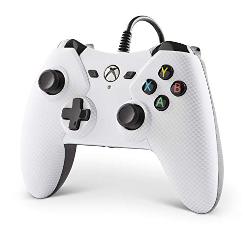 PowerA White Wired Controller for Xbox One (Carbon Fiber)