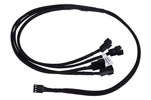 Phobya Y-Kabel 4Pin PWM auf 4X 4Pin PWM 60cm - Schwarz Kabel Lüfterkabel und Adapter