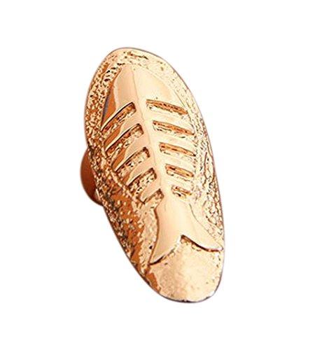 Demarkt 2pcs Retro Stil Fishbone-Form- Fein Nagel-Ring Nagel Nagelformen