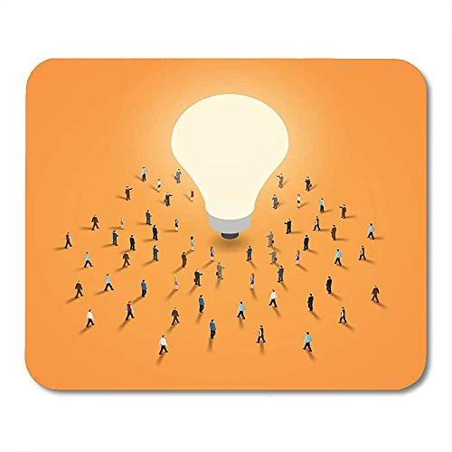 Mousepad wit kleine groep van mensen lopen naar licht lamp het 's brainstorm inspiratie idee concept isometrische 10 office muismat spel muismat antislip afgedrukt speciale W