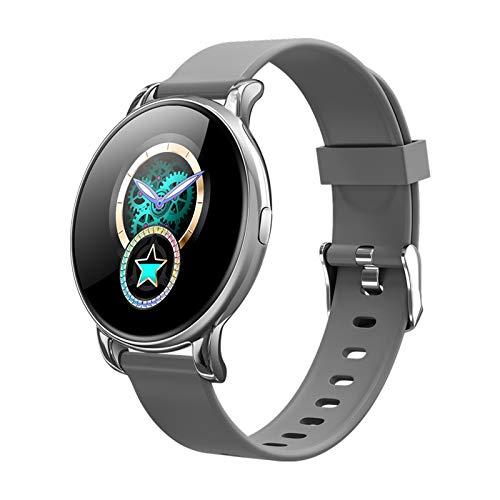 BNMY Smartwatch, Reloj Inteligente Impermeable IP67 para Hombre Mujer Niños, Pulsera De Actividad Inteligente con Monitor De Sueño Contador De Caloría Pulsómetros Podómetro para Android iOS,Plata