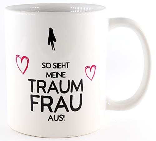 PICSonPAPER Tasse So Sieht Meine Traumfrau, Valentinstagsgeschenk für Sie und Ihn, Kaffeetasse, Keramiktasse