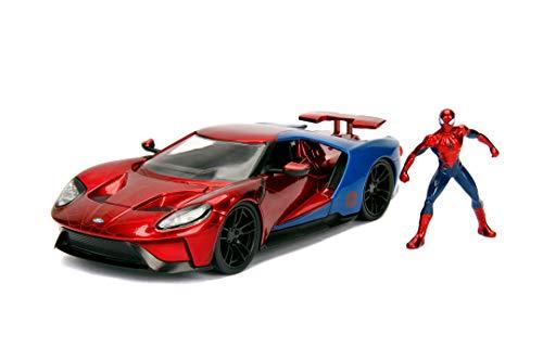 Marvel Spiderman 2017 Ford GT 1:24 Escala Die-Cast Car