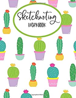 Sketchnoting Workbook: Blank Pages With Templates for Sketchnotes, Mind Mapping, Visual Thinking, Doodling - Large 8.5
