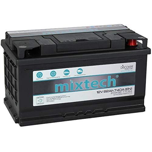 mixtech 12V Autobatterie 82Ah Nass-Batterie Blei-Säure MT82 Starter-Batterie in 9 Varianten: 48Ah - 105Ah (wartungsfrei)
