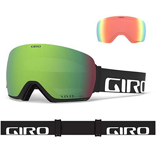 Giro Snow Herren Article Skibrille, Black Wordmark Vivid Ember/Vivid Infrared, Einheitsgröße