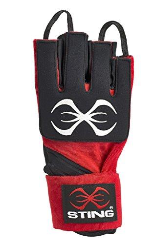 STING Herren Boxhandschuhe, AIBA-Zulassung L rot/schwarz