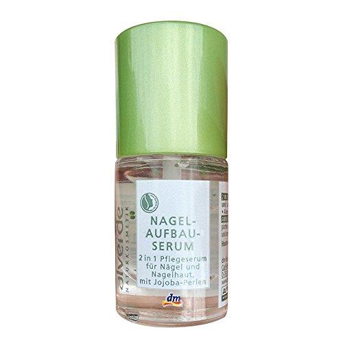 Alverde Naturkosmetik Nagelaufbauserum für Nägel und Nagelhaut Farbe: Transparent Inhalt: 9ml Nagellack mit Coffein und Brennesselexrakt sowie Algen. Nagelaufbauserum