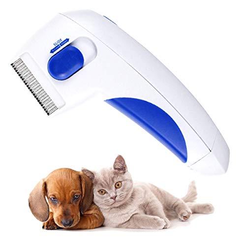 RBNANA Elektrischer Flohkamm für Haustiere, Läuseentfernung, sicher, bequem, elektrische Flohbürste für Hunde und Katzen