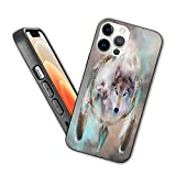 Cute Compatible with New iPhone 12 Series 2020 Case Wolf Dream Catcher Flexible Slim TPU Case Design for iPhone 12 Pro Max 6.7',Blue and Green