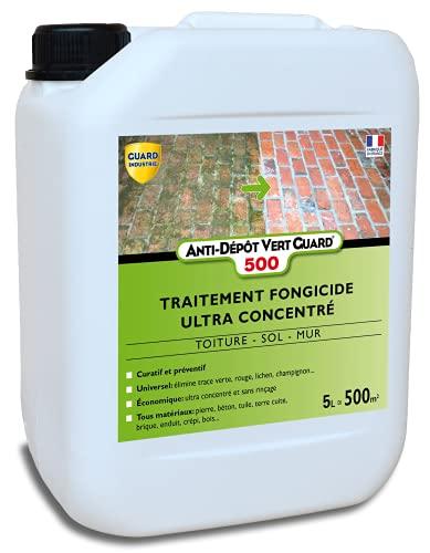 Guard Industrie Anti-Depot Vert 500-5L - Destruction Totale des Dépôts Verts sur Les Toits, Terrasses, Façades. - jusqu'à 600m²