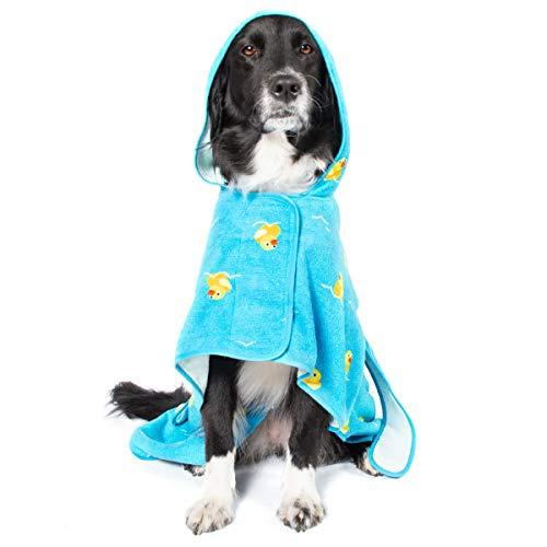 Barkbox Dog Bath Robe (Rubber Duck, Large)