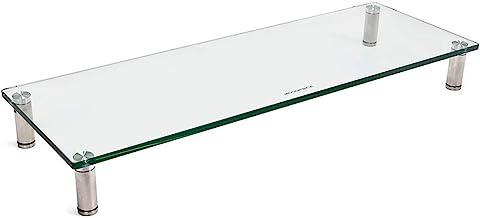 "Monoprice Multimedia Desktop Stand 27.5"" x 9.5"" - Stand & Riser, Laptop Stand, Desktop TV Stand, Dual Monitors w/ Height A..."
