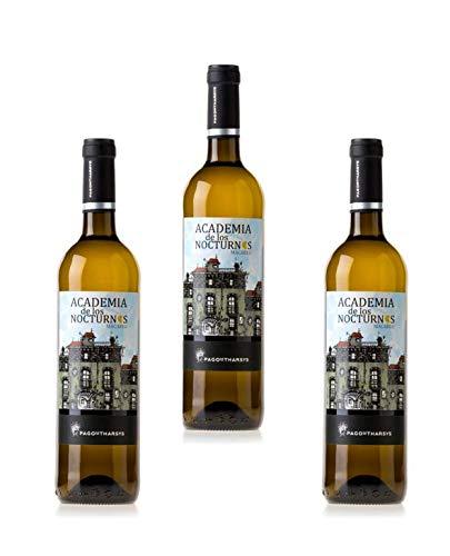 Vino Blanco Pago de Tharsys, Academia de los Nocturnos, Variedad 100% Macabeo 3 Botellas de 75 cl.