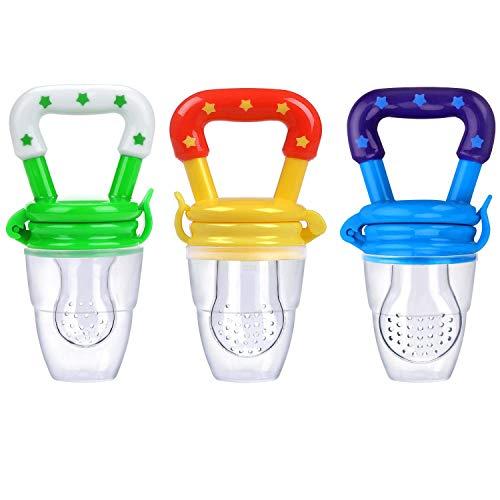 ICEBLUEOR 3PCS Fruit Dummy Pacifier Fresh Food/Fruit Feeder Baby Feeding...