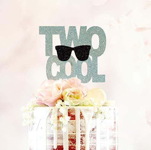 Twee Cool Elke Leeftijd Kleur Tweede Verjaardag 2e Verjaardag Meisje Verjaardag Party Jongen Verjaardag Party Peuter Verjaardag Zonnebril Kind Cake
