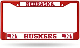 Rico Industries NCAA Nebraska Cornhuskers Team Colored Chrome License Plate Frame, Red