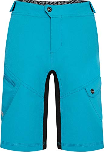 Madison Zen Youth Baggy Cycling Shorts - Blue, Age 11-12 / Children Child Kid Boy Girl Unisex Junior Mountain Bike MTB Trail Cycle Leg Ride Wear Waist Pant Trouser DWR Water Repellent Resistant