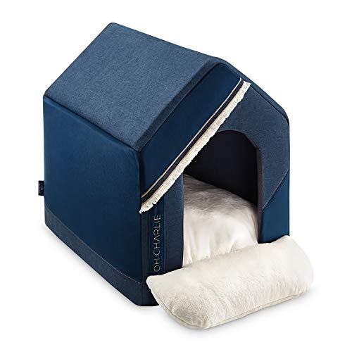 cozydots Deluxe Hundebett Hundekorb Hundehütte Allure für kleine Hunde - gemütlich und kuschelig, abwaschbar, ergonomisch - mit antiallergischen Silikonkugeln gefüllt