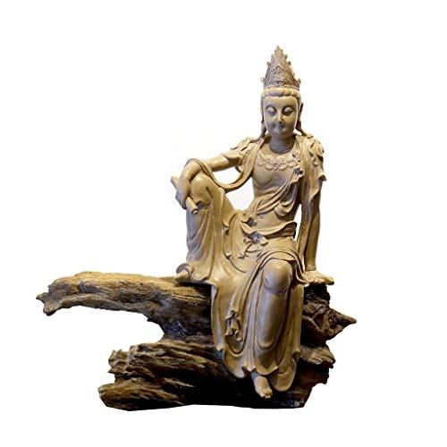 Zelfstandige Guanyin Boeddha standbeeld Thuis Woonkamer Veranda TV Kantoor Zachte Nieuwe Chinese Zen Meubels Hars