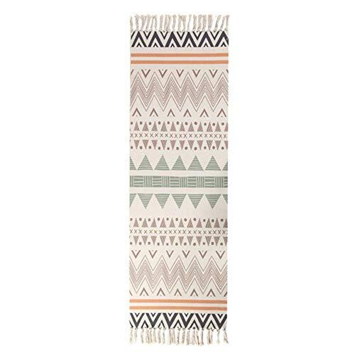 BWYFGRT Tappeti Etnici da Cucina per tappeti Kilim Geometrici da Pavimento a Strisce Lunghe Tappeto Nordico per Camera da Letto Tappezzeria Orientale in Cotone.60x150 cm