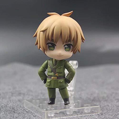 Abbildung Anime-Charakter Figurine PVC Statue Mann Q Version Hetalia Augenbrauen Figur Dekoration 10Cm Desktop- Statue Anime-Modell-Dekoration-Kunst-Geschenk
