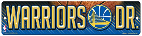 Rico Industries NBA Golden State Warriors 16-Inch Plastic Street Sign Décor