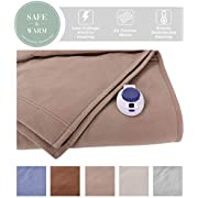 Soft Heat Luxury Micro-Fleece Electric Heated Warming Blanket